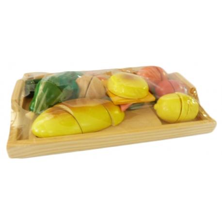 Assortiment de Légumes en Bois