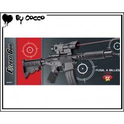 Fusil à Billes Plastique avec Laser (Piles Incluses) 48cm x 15cm