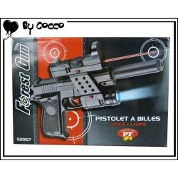 Pistolet à Billes Plastique avec Laser+Lampe (Piles Incluses) 24cm x 16cm