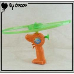 Disque Volant avec Lanceur Orange/Vert