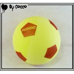 Ballon Football en Mousse Jaune/Rouge
