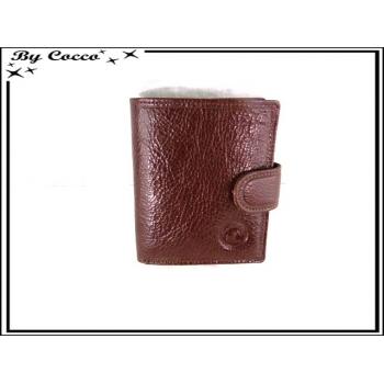 Petit portefeuille - Porte monnaie - Cuir - Marron