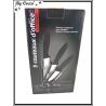 Set 3 Couteaux - Céramique + Support - Acrylique