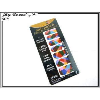 Patch ongles - Mosaique - Multicolor