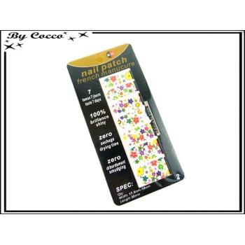 Patch ongles - Fleurs - Multicolor