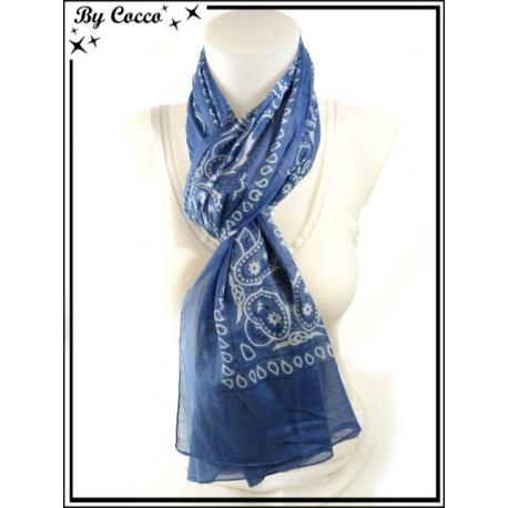 Foulard - Façon bandana - Bleu