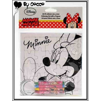 Puzzle à Colorier Minnie (4 crayons cire inclus)