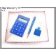 Coffret Calculatrice - Stylo - Porte-clés - Bleu