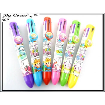 Stylos Ours - Lapin - 8 couleurs x6