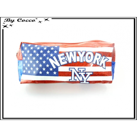 Trousse - New-York - Fond Bleu