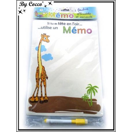Mémo + Feutre - Girafe