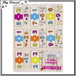 Puzzle - Bois - Educatif - Apprends à compter