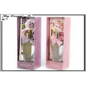 2 diffuseurs grands modèles avec noeuds - Senteur Rose et Pivoine / Jasmin et Magnolia x2