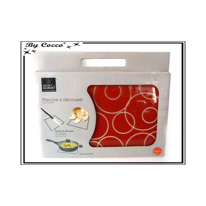 planche d couper en verre petit mod le rouge cocconelle. Black Bedroom Furniture Sets. Home Design Ideas