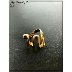 Bague - Plaqué or - Vague