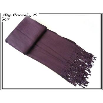 Pashmina - Uni - Violet foncé
