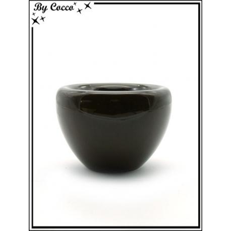 Cache pôt - Céramique - Chocolat - Petit modèle