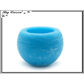 Photophore sphère - Verre + Bougie - Bleu