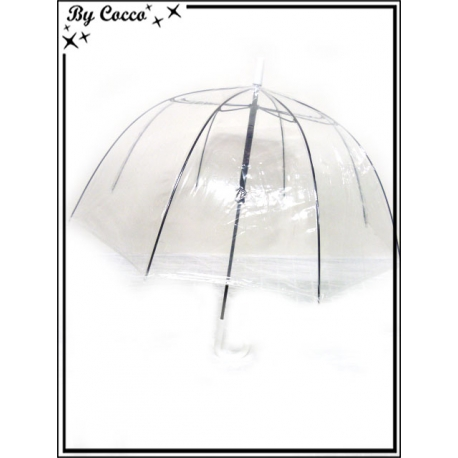 Parapluie enfant - Canne - Cloche - Transparent