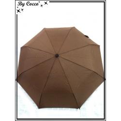 Parapluie - Pliable - Liseré beige - Marron