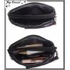 Vivi Secret 17 - Petite pochette - Fermeture Zip - 3 poches - Smileys / Filles - Fond marron