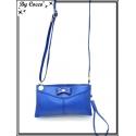 Pochette - Besace - Petit Noeud - Double compartiment - Bleu roi