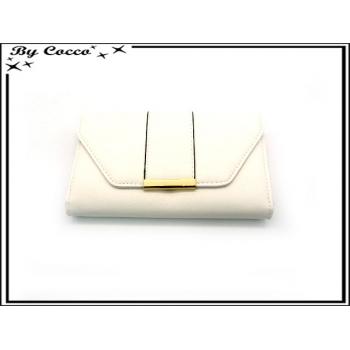 Compagnon - Fermeture avec bartette dorée - Blanc