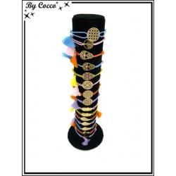 Bracelets - Stella Green - Piecettes filigrane - Doré - Différents motifs (x12)