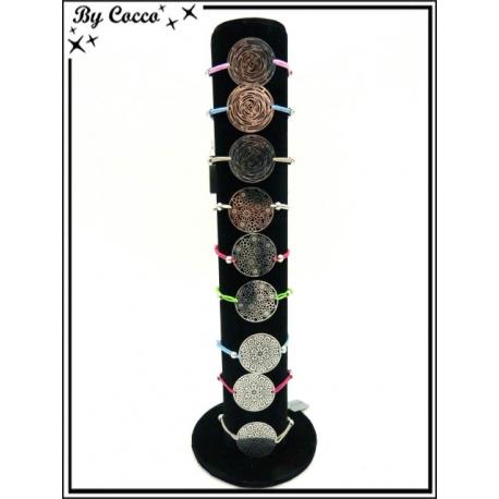 Bracelets - Stella Green - Piecettes filigrane - Argent - Différents motifs (x24)