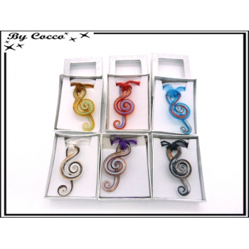Collier - Verres - Notes de musique - Multicolor (x12)
