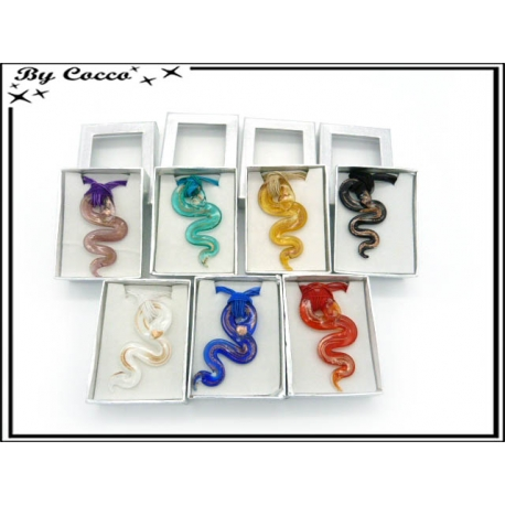 Collier - Verres - Serpents - Multicolor (x12)