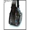 Vivi Secret 19 - Besace rectangle et sa petite pochette - 3 poches à fermetures Zip - Musique fond gris