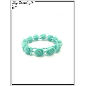 Bracelet - Fleurs - Turquoise
