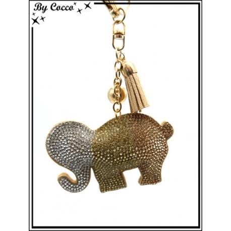 Bijoux de Sacs - Elephant - Tricolor - Beige
