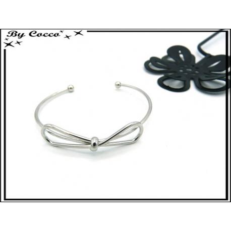 Bracelet Jonc - Noeud - Argent