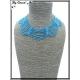 Collier - Multi-rangs - Perles - Bleu