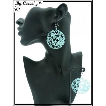 Boucles d'oreilles - Filigrane - Bleu ciel