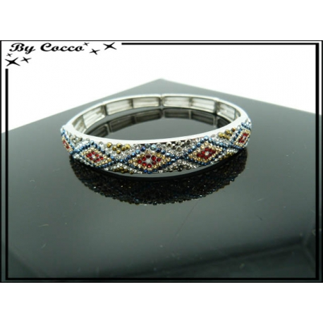 Bracelet - Elastique - Losanges - Multicolor