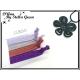 Plaque de 4 Elastiques - Noués - Tons violets