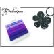 Plaque de 6 Elastiques - Rond -Tons violets / bleus