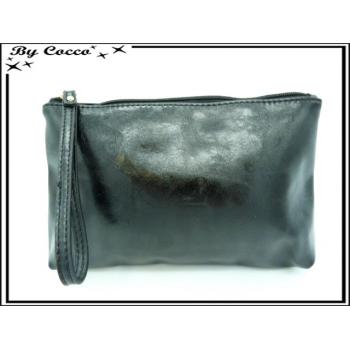 Pochette - Aspect cuir - Noir