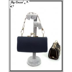 Petit porte-monnaie - Chaînette - Bleu marine