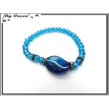 Bracelet - Petites perles - Bleu / Bleu marine