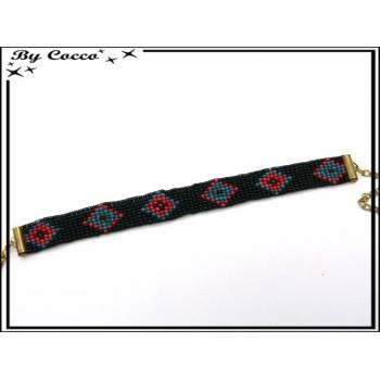 Bracelet - Type brésilien - Losanges - Multicolor