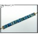 Bracelet - Type brésilien - Bleu / Vert