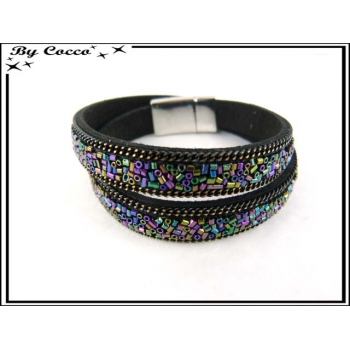 Bracelet - Double tour - Perles - Multicolor