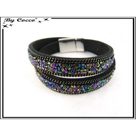 Bracelet - Double tour - Perles - Multicolor
