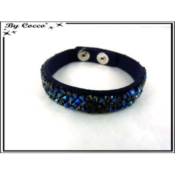 Bracelet - Perles - Noir / Bleu