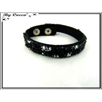 Bracelet - Perles - Noir / Blanc