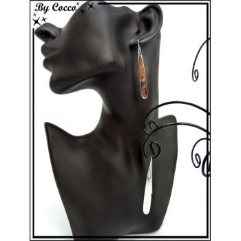 Boucles d'oreilles - Gouttes - Argent
